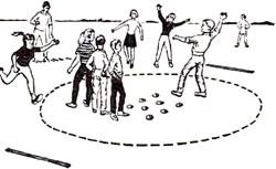 Игры на открытом воздухе: лунки