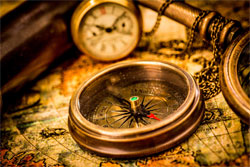 Время по компасу, направление по часам