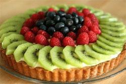 Куличи и пасхи с овощами и фруктами