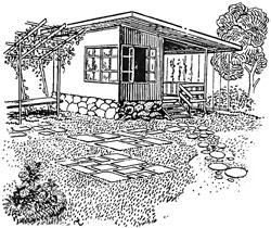 Садовый домик с металлическим каркасом