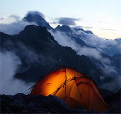 Туристская палатка с отоплением