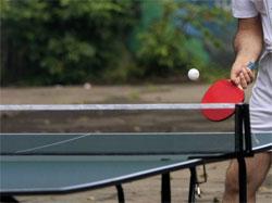Теннисный стол под собственной крышей