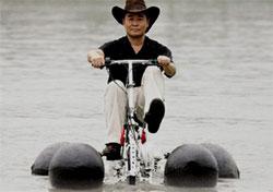 Аквапед - велосипед-амфибия