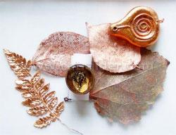 Как покрыть слоем металла лист или цветок