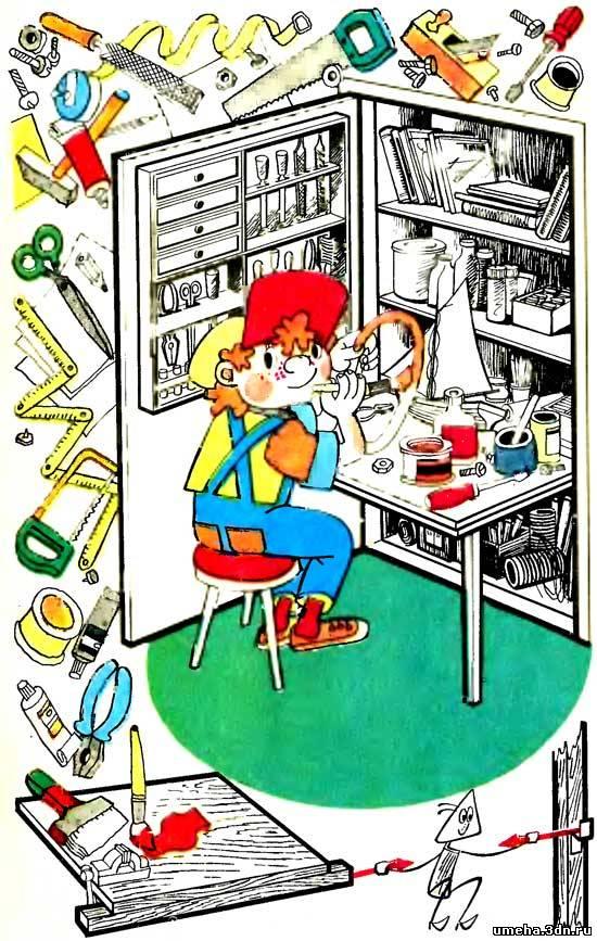 Мастерская в шкафу фото
