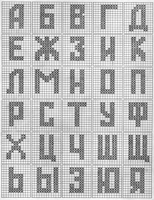 Вязание на спицах алфавит