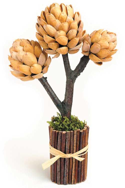 Дерево своими руками из фисташек