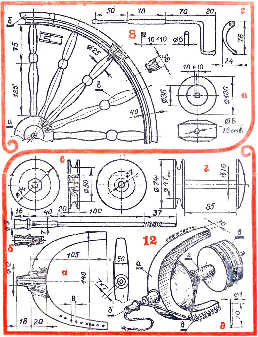Прялка деревянная с колесом своими руками