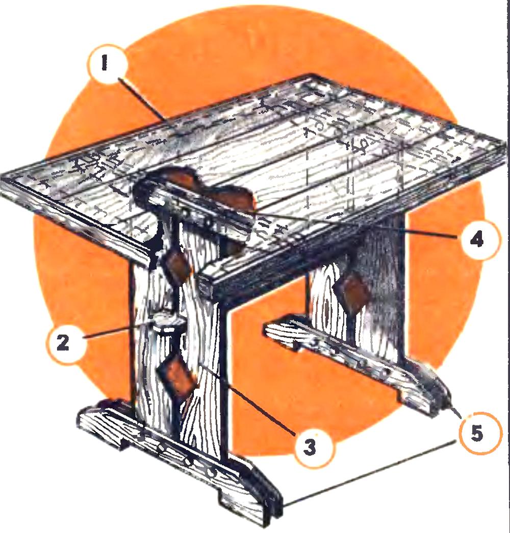 Устойчивый стол своими руками