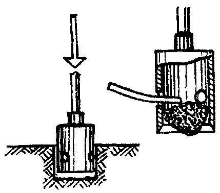 Делать ямы для столбов можно с помощью острозаточенного куска трубы, приваренного к составной (из нескольких звеньев)...