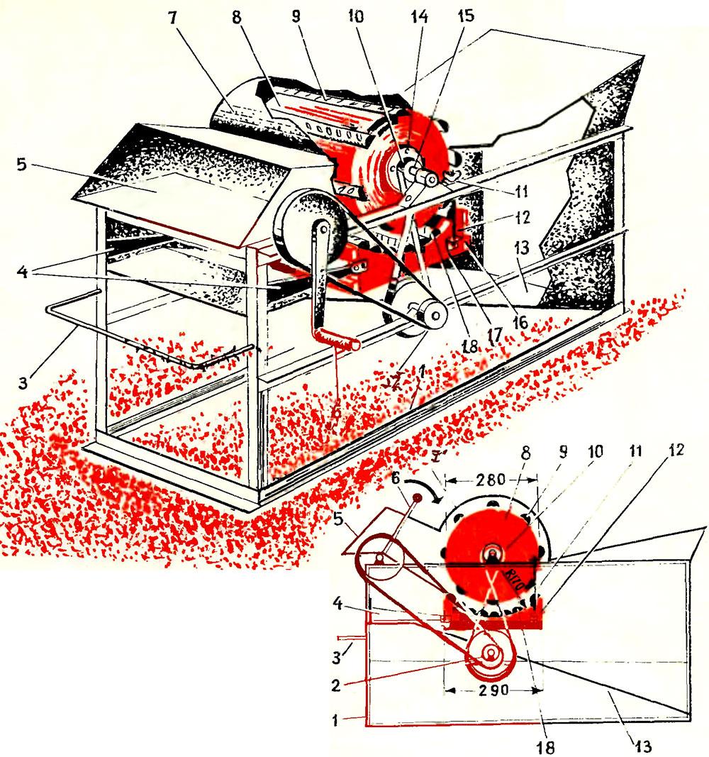 Как сделать молотилку для зерна своими руками 212