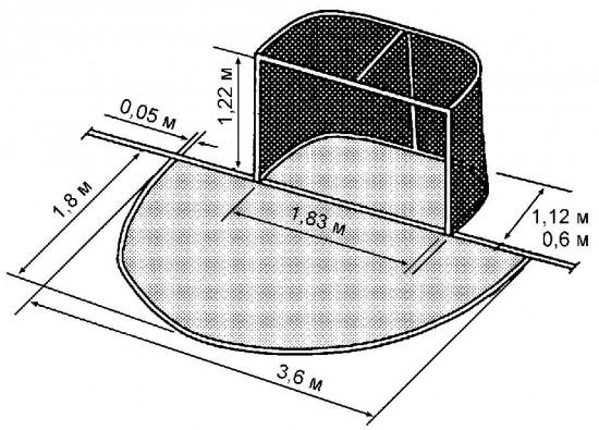 Размер хоккейных ворот своими руками 904