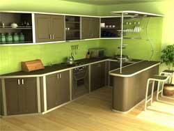 Использование пустующего пространства между кухонными полками