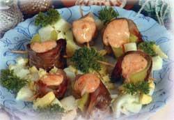 Закуска из сельди под чесночным соусом