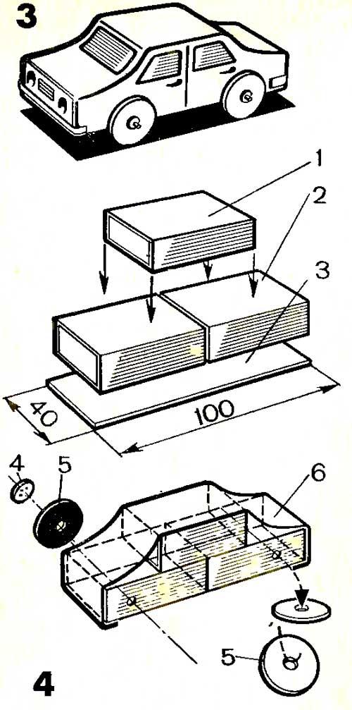 Как сделать машину из спичечного коробка своими руками
