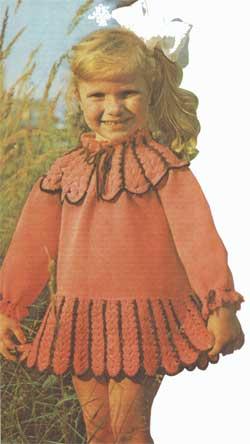 Платье с круглым воротником