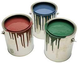 Краски и эмали на синтетических связующих и олифах