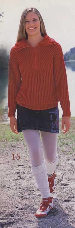 Красный спортивный пуловер