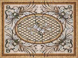 Облицовка мозаичными коврами