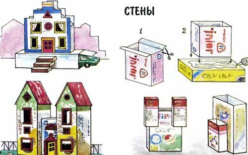Городок-коробок: Стены