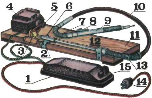 Устройство простейшей бормашины