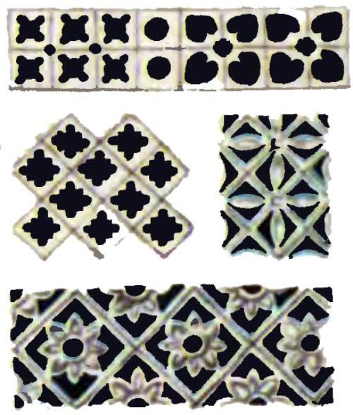 Виды орнаментов, применяемых в ажурной резьбе: геометрический