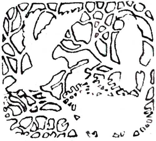 Последовательность работы над резной вставкой: нанесение контурного рисунка
