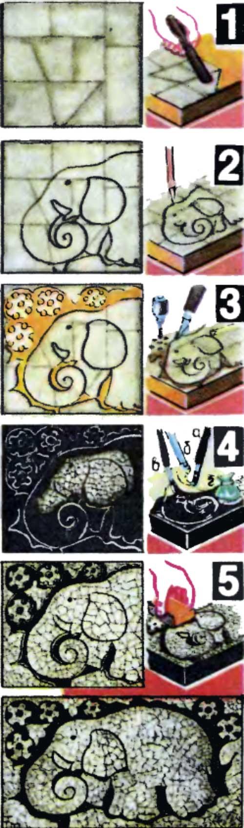 Мозаика кракле