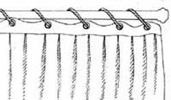 Занавеска на шнуре