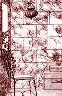 Окраска под каменную кладку
