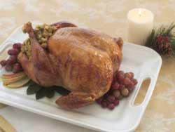 Фаршированная рождественская индейка с травами и пряностями (английская кухня