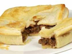Пирог с говядиной и горчицей