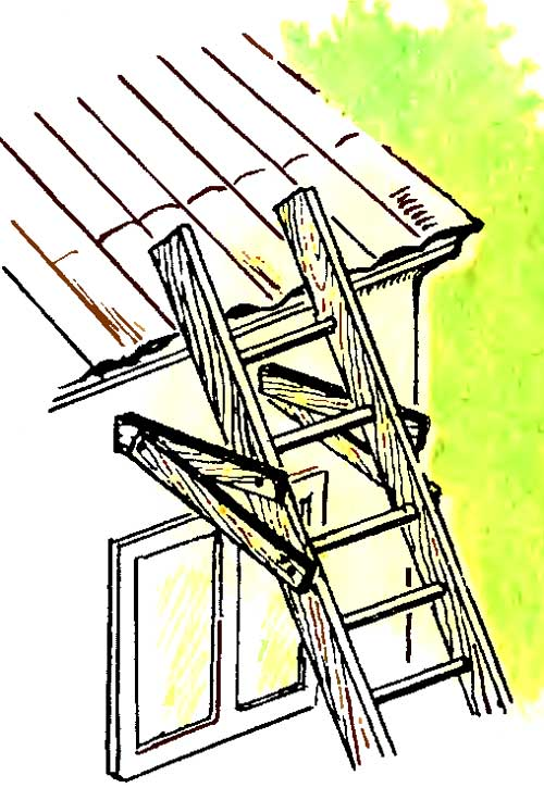Как сделать 7 метровую лестницу на крышу своими руками