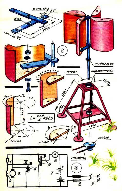 Как сделать ветряной двигатель в домашних условиях