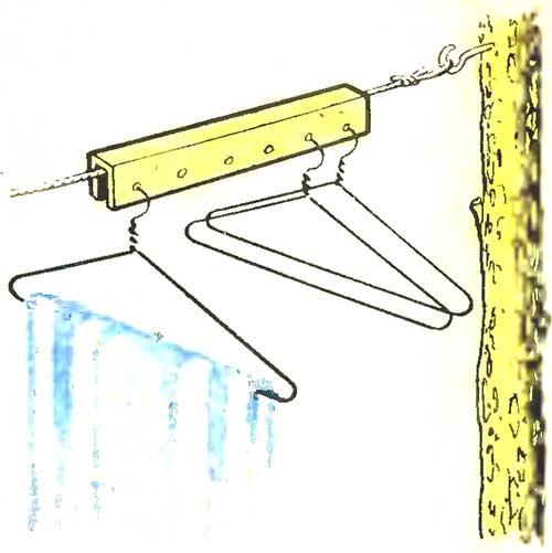 Планка для бельевой веревки