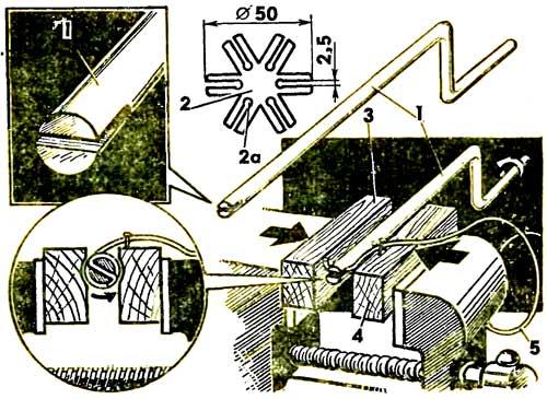 Пружиноход. Приспособление для навивки пружин.