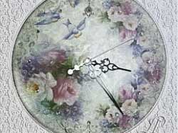 часы декупаж картинки