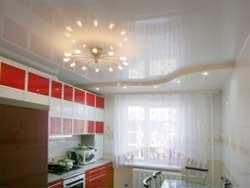 Кухня и натяжной потолок