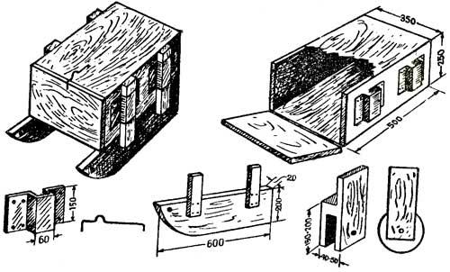 чертежи ящик для снастей