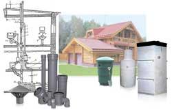 Вам необходимы лишь схема устройства канализационной системы, септик и трубы.