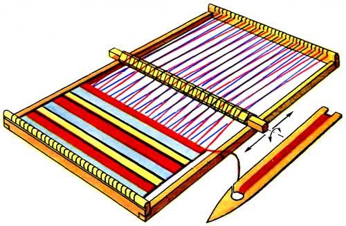 Миниатюрный ткацкий станок