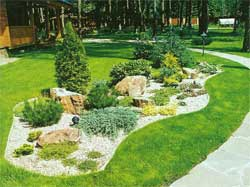 Создание ландшафтного дизайна на садовом участке