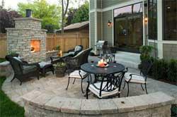 Обустройство зоны отдыха - внутренний дворик патио на даче