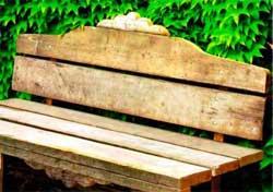 Делаем простую скамейку на даче