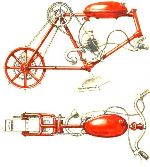 Мотоплуг из велосипеда