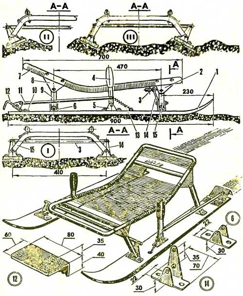 Как сделать санки схема