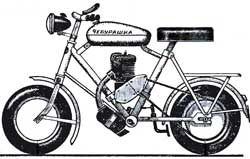"""Микромотоцикл """"Чебурашка"""""""