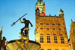 Ратуша в Гданьске (Польша) на Рыночной площади
